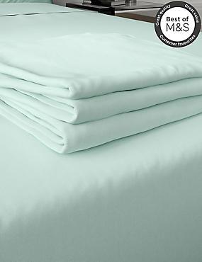 200 Thread Count Comfortably Cool Flat Sheet, DUCK EGG, catlanding