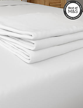 200 Thread Count Comfortably Cool Flat Sheet, WHITE, catlanding
