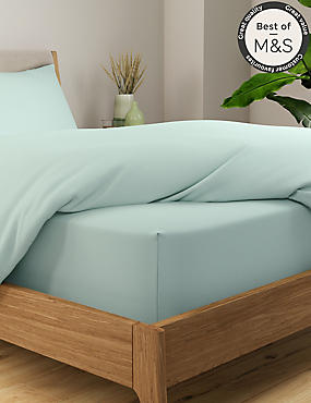 Stay Cool Tencel Extra Deep Fitted Sheet, DUCK EGG, catlanding