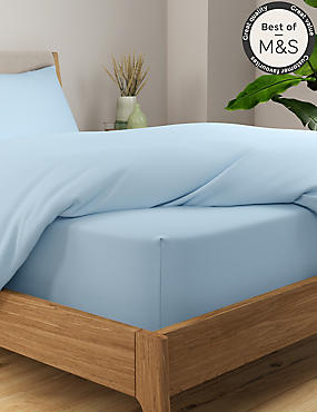 Stay Cool Tencel Extra Deep Fitted Sheet, POWDER BLUE, catlanding