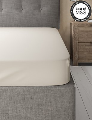 Non-Iron Pure Egyptian Cotton Fitted Sheet, CREAM, catlanding