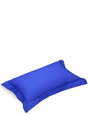 Pure Egyptian Cotton 230 Thread Count Oxford Pillowcase with StayNEW™, BRIGHT BLUE, catlanding