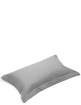 Pure Egyptian Cotton 230 Thread Count Oxford Pillowcase with StayNEW™, PEARL GREY, catlanding