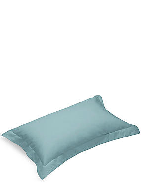 Pure Egyptian Cotton 230 Thread Count Oxford Pillowcase with StayNEW™, LIGHT VERDIGRIS, catlanding