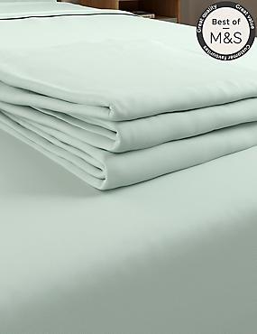 Non-Iron Pure Egyptian Cotton Flat Sheet, LIGHT AQUA, catlanding