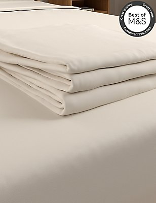 Non-Iron Pure Egyptian Cotton Flat Sheet, CREAM, catlanding