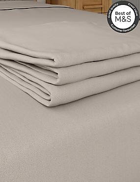 Non-Iron Pure Egyptian Cotton Flat Sheet, MINK, catlanding