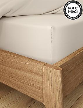 Non-Iron Pure Egyptian Cotton Deep Fitted Sheet, CREAM, catlanding
