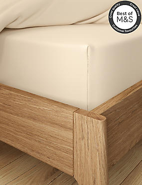 Non-Iron Pure Egyptian Cotton Deep Fitted Sheet, IVORY, catlanding