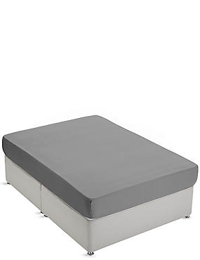 Non-Iron Pure Egyptian Cotton Deep Fitted Sheet, PEARL GREY, catlanding