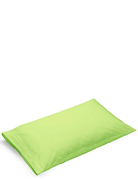 Pure Egyptian Cotton 230 Thread Count Housewife Pillowcase with StayNEW™, LIME, catlanding