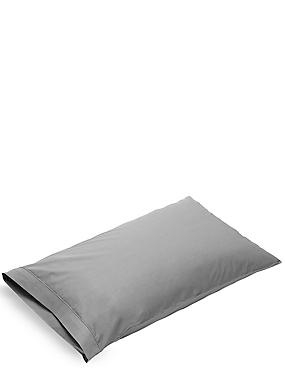 Pure Egyptian Cotton 230 Thread Count Housewife Pillowcase with StayNEW™, PEARL GREY, catlanding