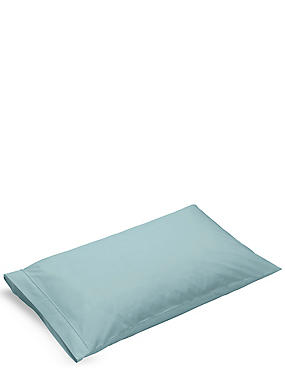 Pure Egyptian Cotton 230 Thread Count Housewife Pillowcase with StayNEW™, LIGHT VERDIGRIS, catlanding