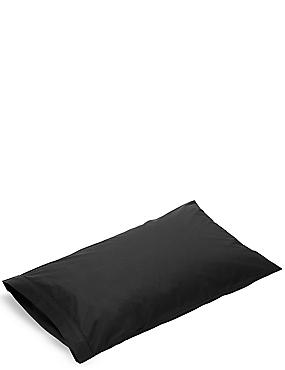 Pure Egyptian Cotton 230 Thread Count Housewife Pillowcase with StayNEW™, BLACK, catlanding
