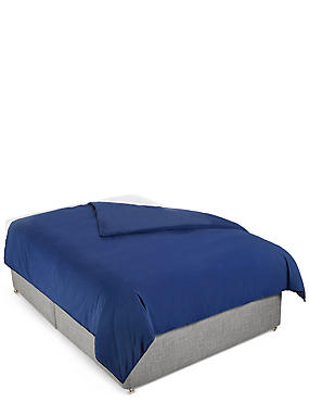 Washed Cotton Duvet Cover, NAVY, catlanding
