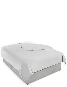 Washed Cotton Duvet Cover, PEWTER, catlanding