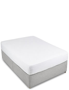 Washed Cotton Fitted Sheet, WHITE, catlanding
