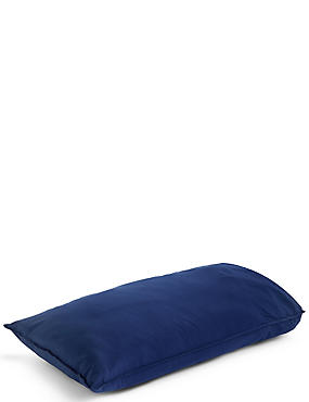 Washed Cotton Housewife Pillowcase, NAVY, catlanding