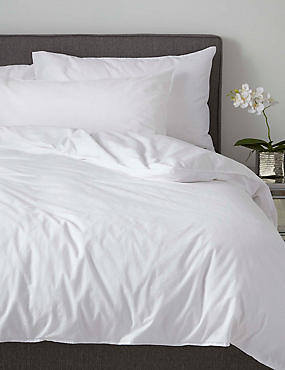 Washed Cotton Housewife Pillowcase, WHITE, catlanding
