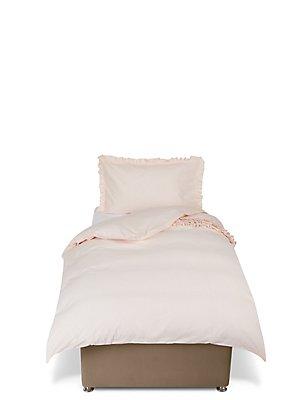 Ruffle Bedding Set, PINK, catlanding