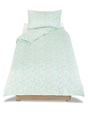 Ditsy Floral Print Bedset, MINT MIX, catlanding