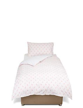 Parure de lit à imprimé flamants roses, ROSE ASSORTI, catlanding