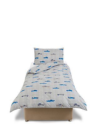 Printed Cars Bedding Set, GREY MIX, catlanding