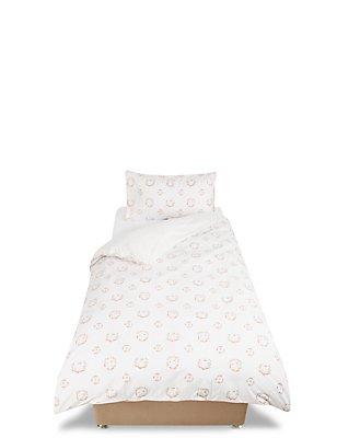 Parure de lit à motif fleurs et lapins, , catlanding
