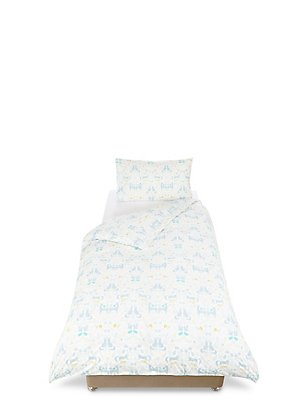 Winter Conversational Bedding Set, LIGHT DUCK EGG, catlanding