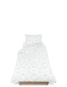 Winter Conversational Bedding Set, LIGHT DUCK EGG, catlanding