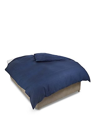 180 Thread Count Chambray Duvet Cover, DENIM, catlanding