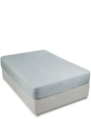 180 Thread Count Chambray Fitted Sheet, GREY, catlanding