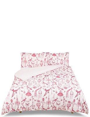 Boutique Toile Bedding Set, RED MIX, catlanding