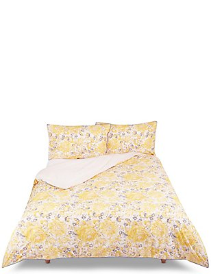 Margo Floral Print Bedding Set, YELLOW MIX, catlanding