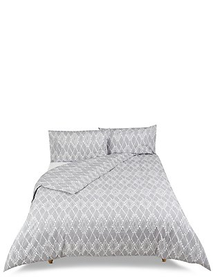 Geometric Print Bedding Set, BLACK MIX, catlanding