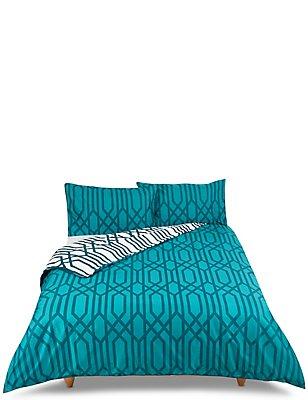 Manhattan Print Bedding Set, TEAL MIX, catlanding