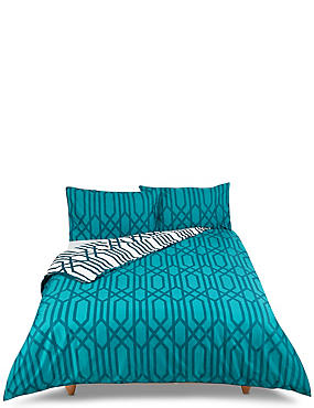 Manhattan Print Bedding Set, TEAL MIX, catlanding