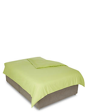 Percale Duvet Cover, LEMON, catlanding