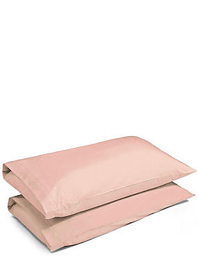 2 Pack Percale Pillowcase, PINK PARFAIT, catlanding