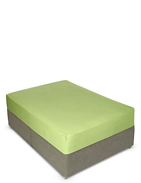 Percale Fitted Sheet, LIME, catlanding