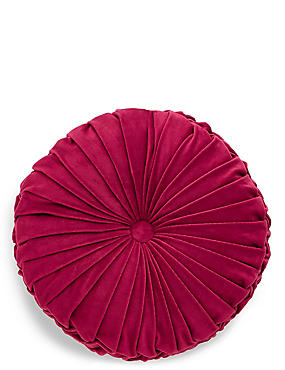 Round Velvet Cushion, RED, catlanding