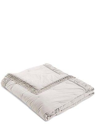 Crochet Bedspread, GREY, catlanding