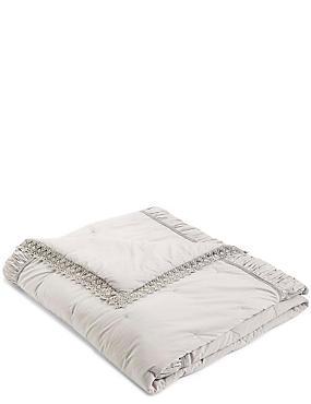 Dessus de lit à motif en crochet, GRIS, catlanding