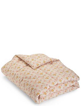 Floral Print Bedspread, , catlanding