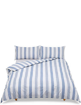 Hadley Striped Bedding Set, BLUE MIX, catlanding