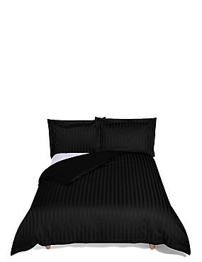 Autograph Double Cuff Bedding Set, BLACK, catlanding