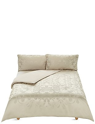 Jacquard Bedding Set, GOLD, catlanding