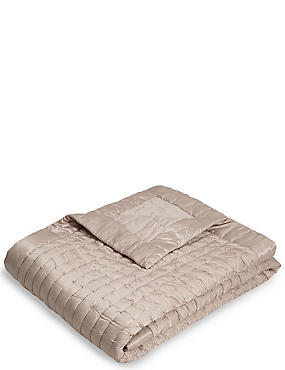 Cotton & Silk Blend Bedspread, MINK, catlanding