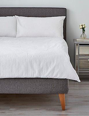 Parure de lit à motif gaufré, BLANC, catlanding