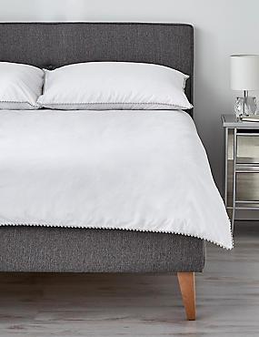 Parure de lit à pompons, GRIS ASSORTI, catlanding